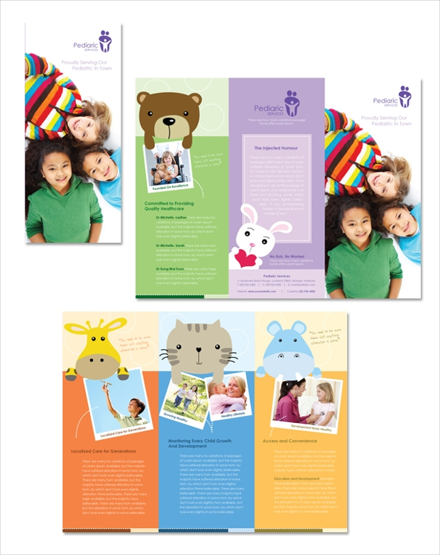 17 child care brochures free psd ai indesign vector for Preschool brochure template