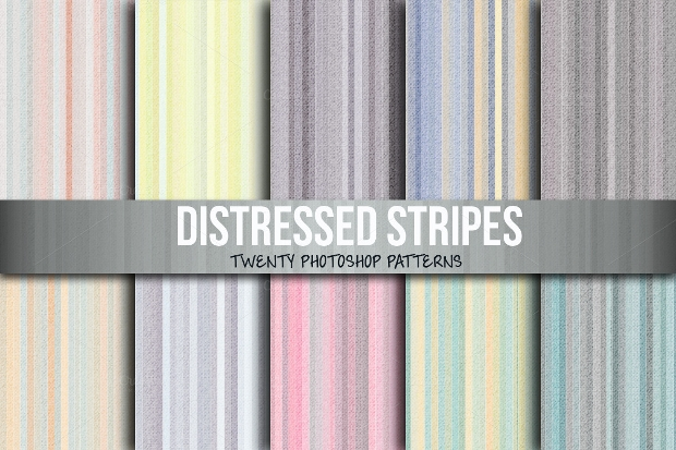 Distressed Striped Pattern