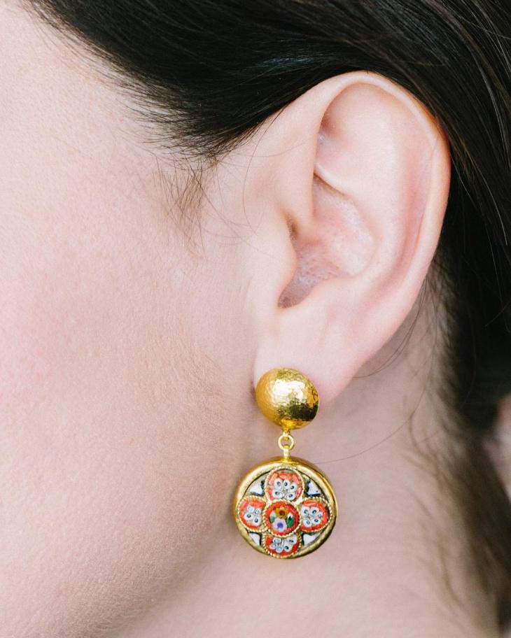 gold mosaic jewelry