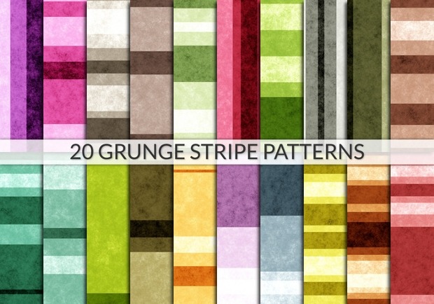 Grunge Stripe Tiles Seamless Pattern