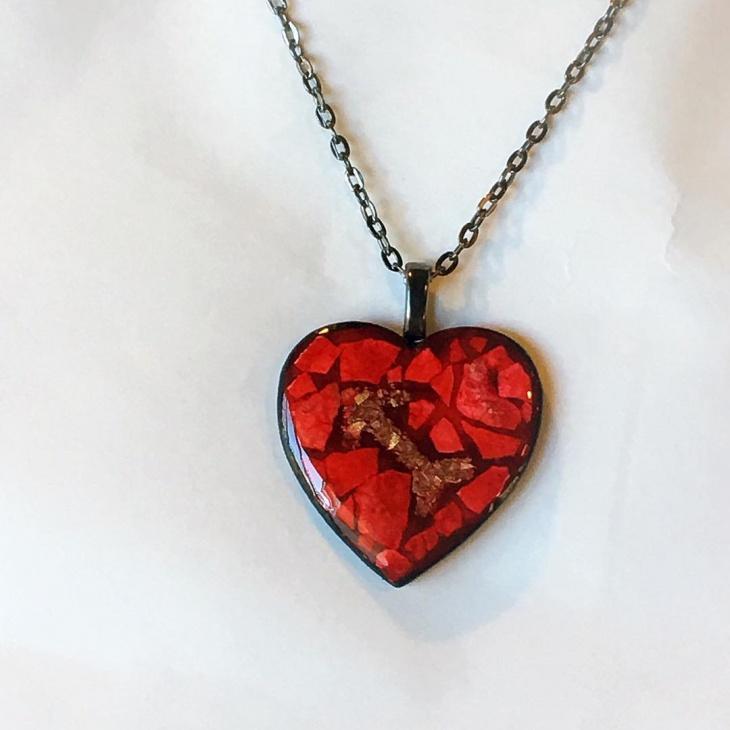 lovely heart shape pendant idea