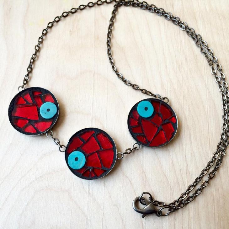 unique mosaic necklace design