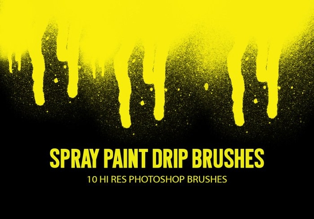 Spray Paint Drip Brushes