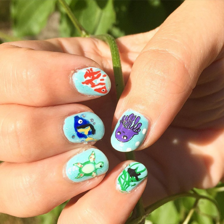 Water Bubble Nail Art Images Easy Nail Designs For Beginners Step