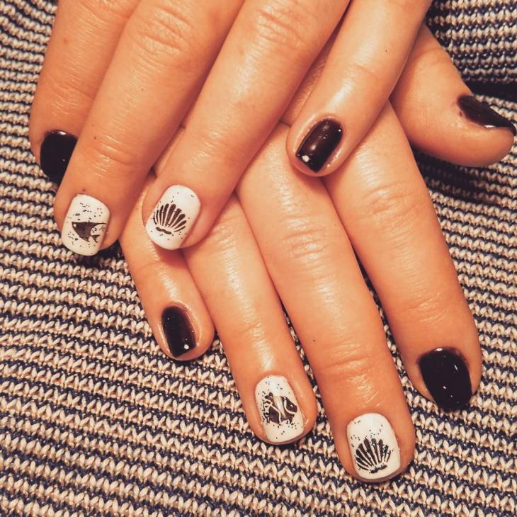 cool fish nails manicure