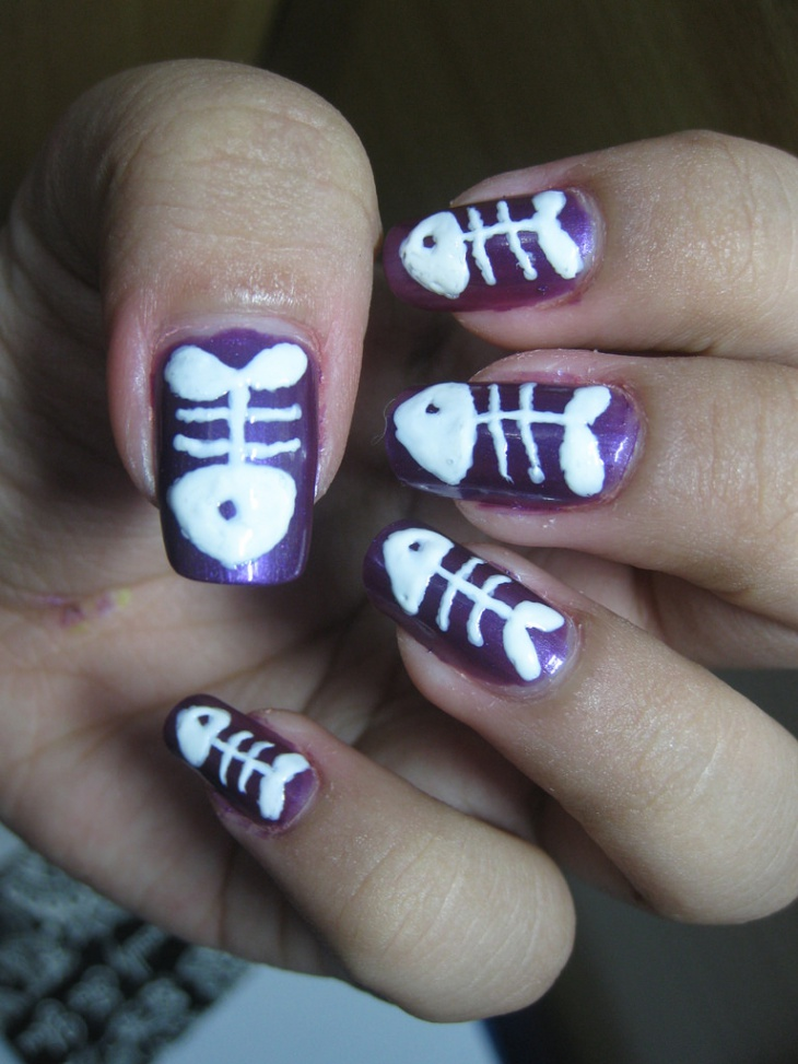 Outstanding Fish Nails Art Collection - Nail Paint Design Ideas ...