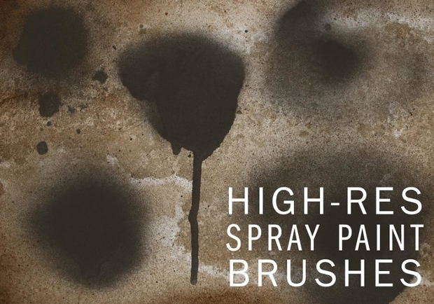 High Resolution Spraypaint Photoshop Brushes