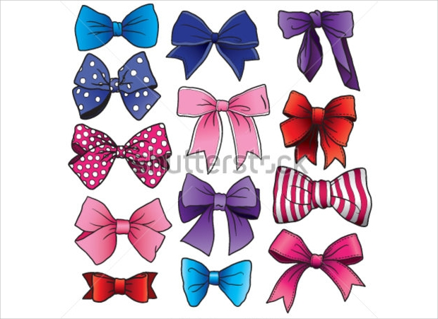 Bow Cartoon Vector