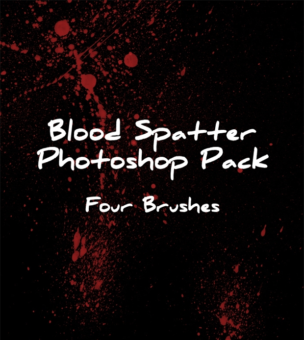 Blood Spray Photoshop Brushes