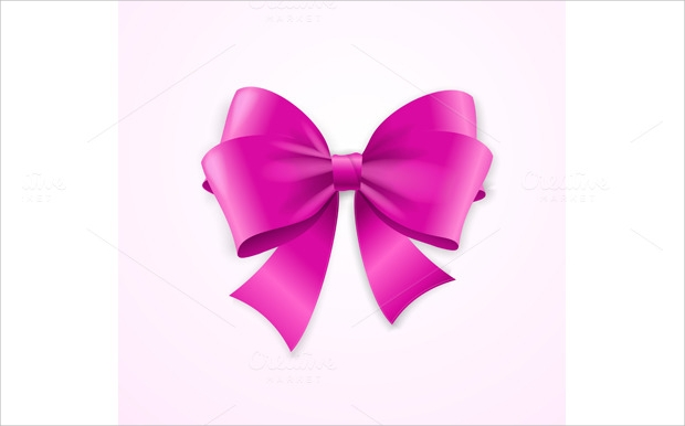 Pink Satin Bow Vector Illustration