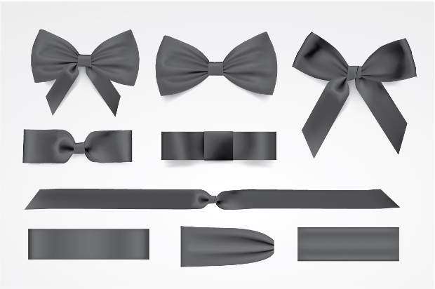 Black Bows Vector