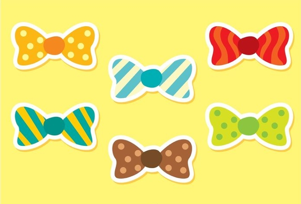 Set of Bow Tie Vector