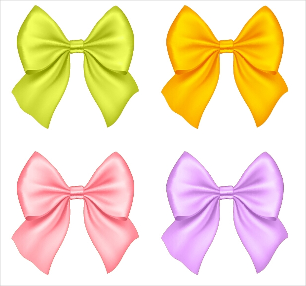 Beautiful Colored Bow Vectors