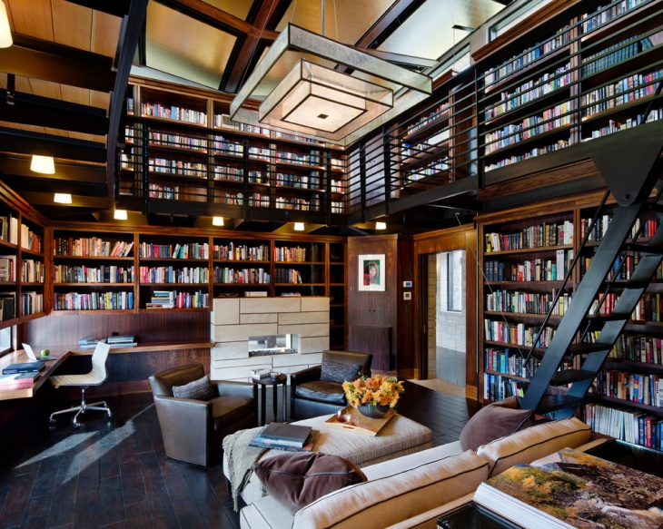 modern library interior design