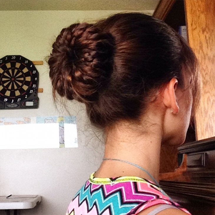 Braided Bun Hairdo