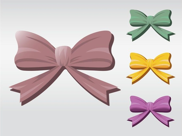 Cute Bow Vector Set