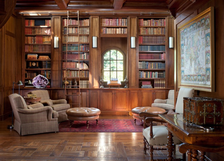 old library interior design