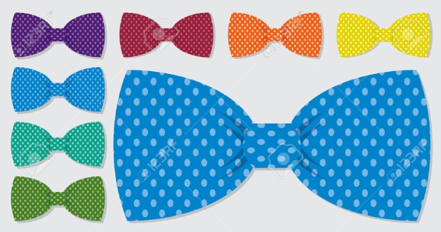 Polka Dot Bow Tie Vector Set