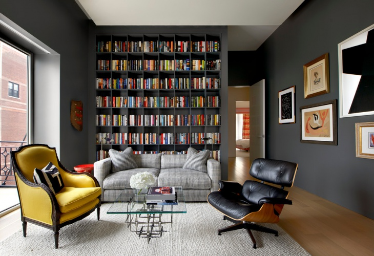 20 library interior designs ideas design trends - Shelves design for living room ...