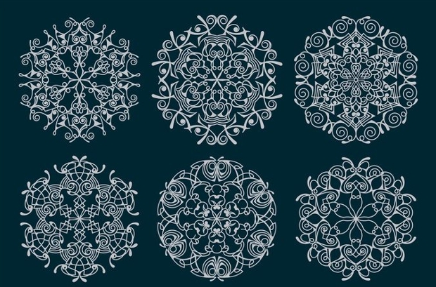 ornament snow flake vector