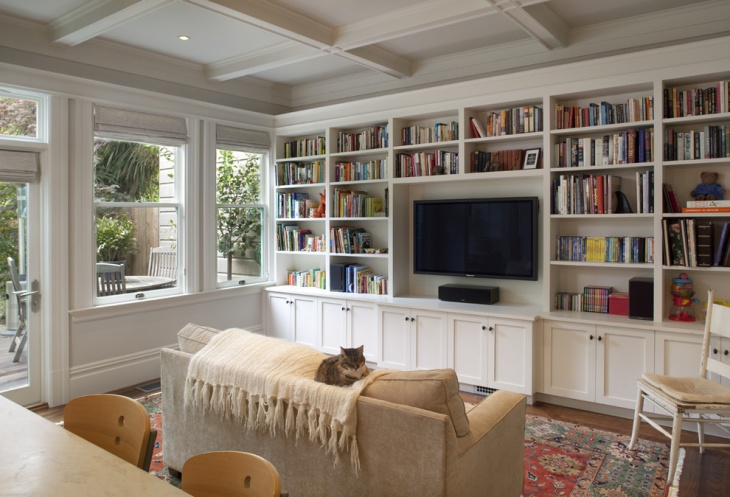traditional library interior design