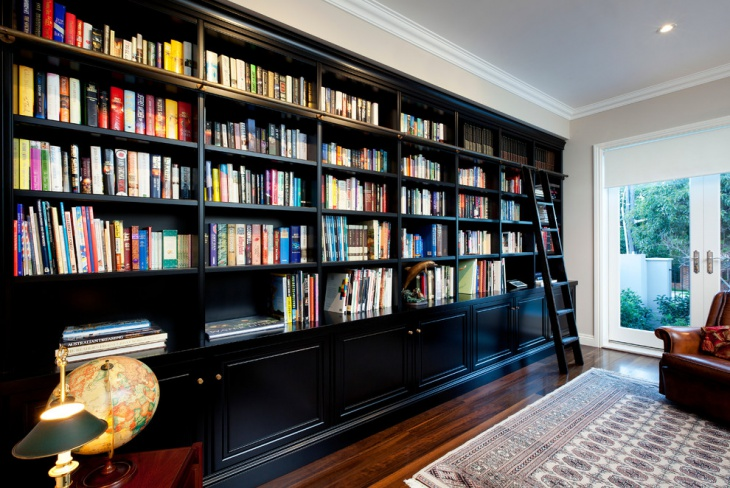 modern library book shelves idea