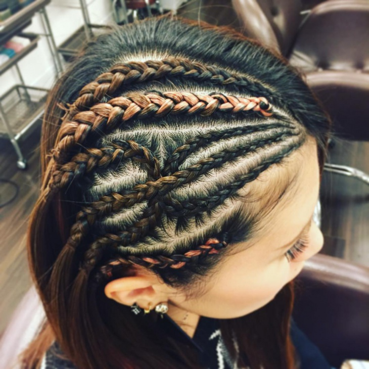 side parted braid hairstyle