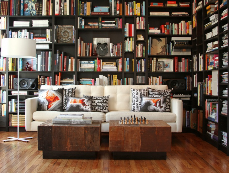 contemporary home library