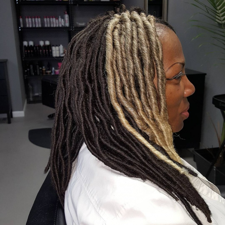 Long Faux Locs Hairstyle