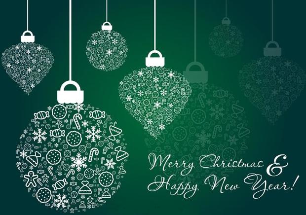 Merry Christmas Ornament Vectors