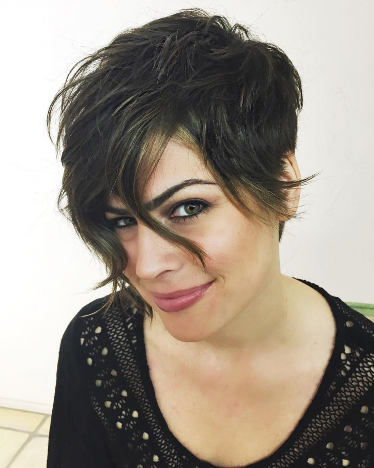 Asymmetrical French Pixie Haircut