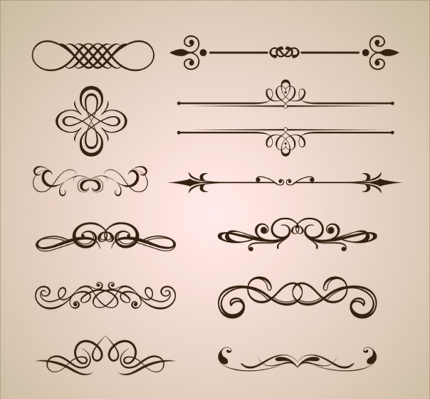 ornament dividers free vector