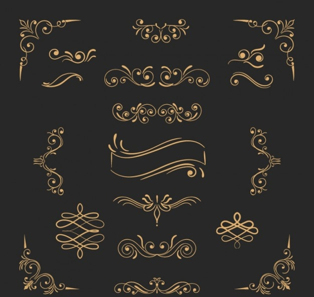 golden ornament free vectors