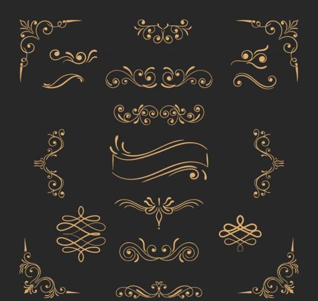 Golden Ornament Free Vectors