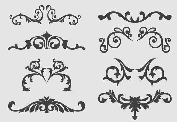 western ornament free vectors