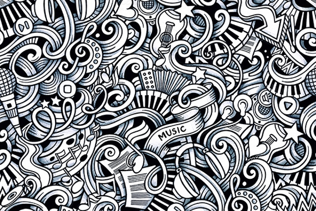 doodles music pattern