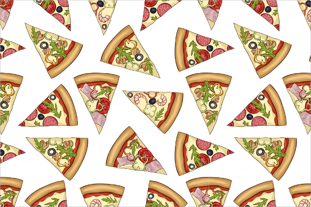 Seamless Color Pizza Patterns