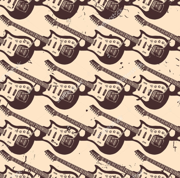 seamless guitar pattern