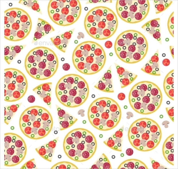 Whole Pizza and Pieces Pattern