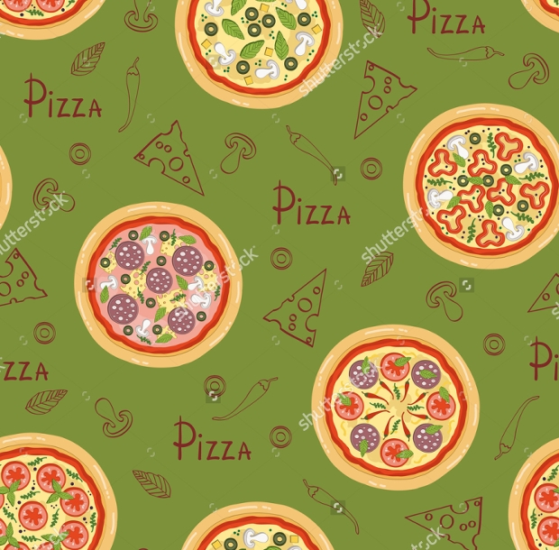 Fabric Pizza Pattern Design
