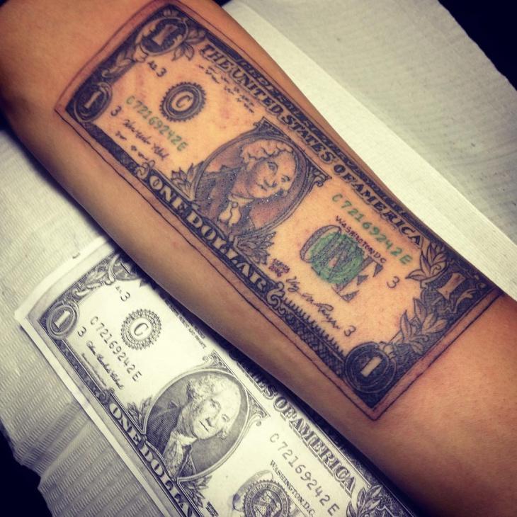 Tattoo Designs Under 100 Dollars: 100+ [ 21 Money Tattoo Designs Ideas ]