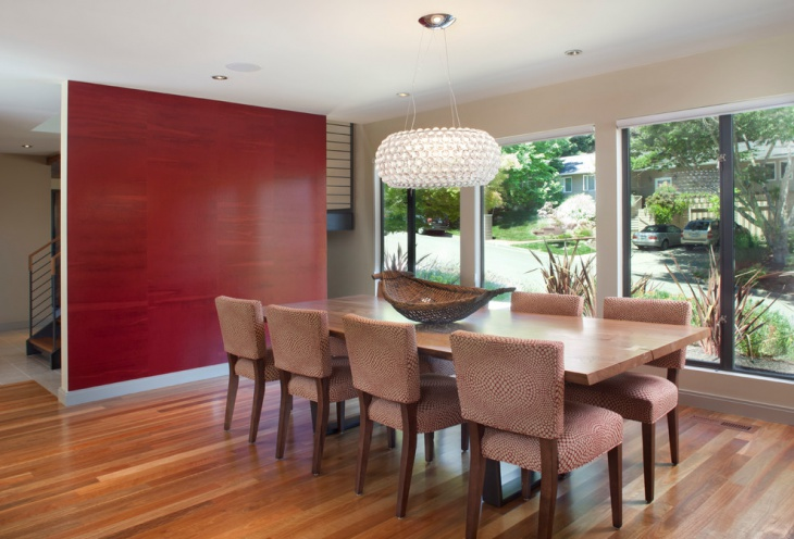 red dining room pendant lighting