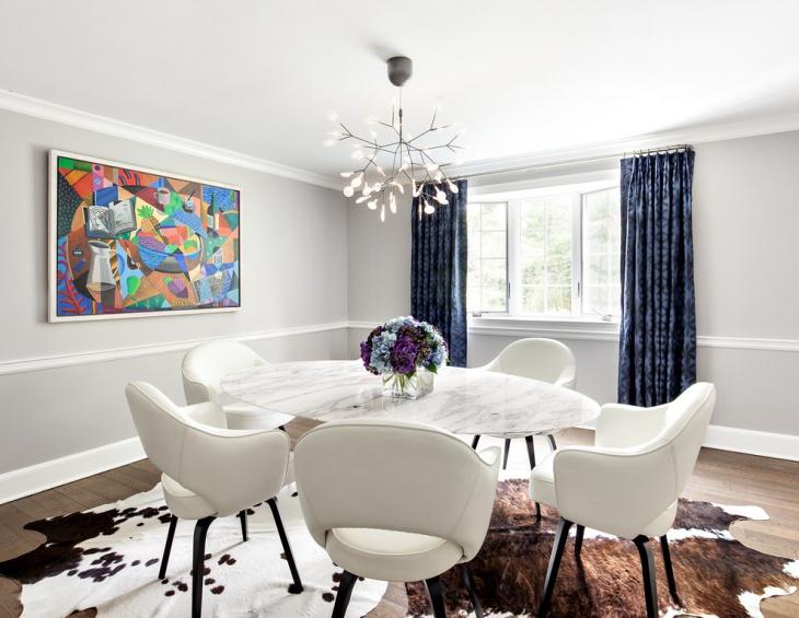 White Dining Room Pendant Light