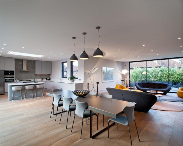 Gray Dining Room Pendant Light