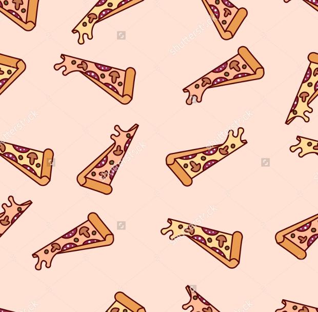 Cartoon PSD Pizza Pattern