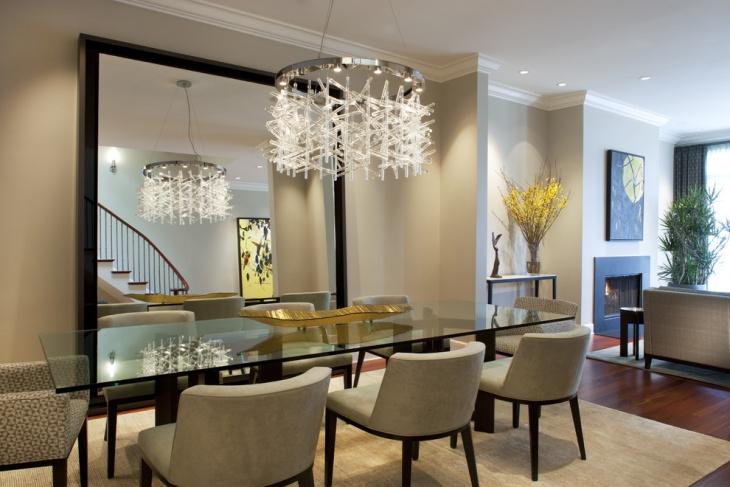 Glass Dining Room Pendant Light