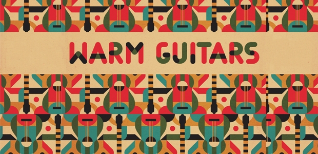 warm guitars pattern