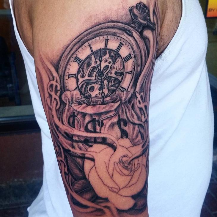 money sleeve tattoo