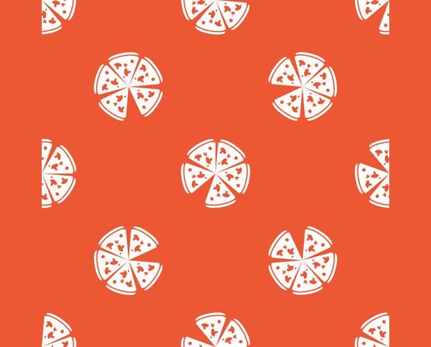 Creative Pizza Seamless Pattern