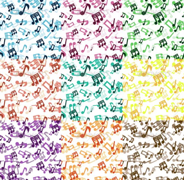 multicolor music seamless pattern